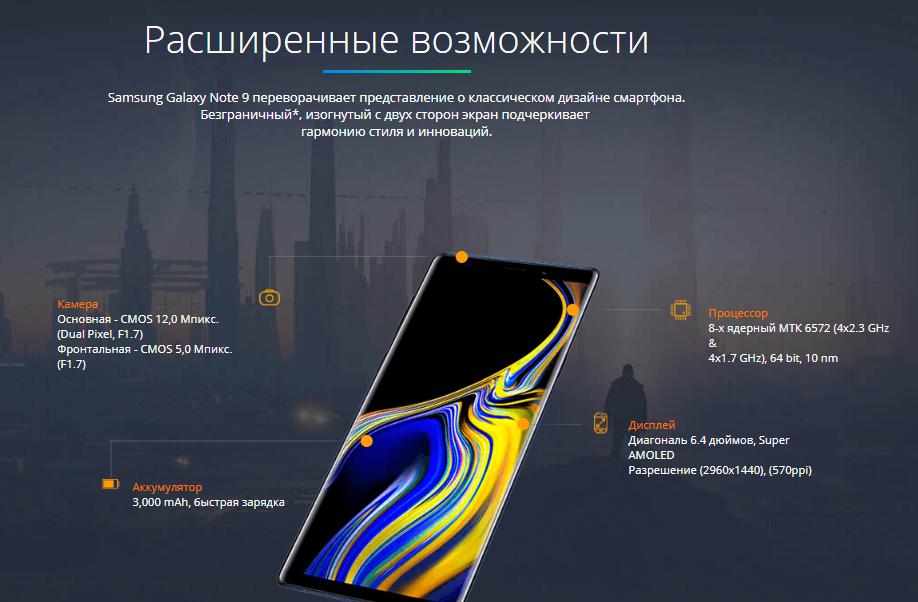 Samsung Galaxy Note 9 копия отзывы специалистов