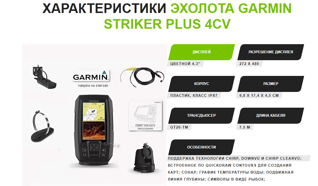 Garmin Striker Plus 4CV отзывы специалистов 1
